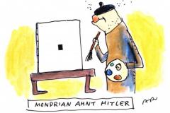 Mondrian ahnt Hitler