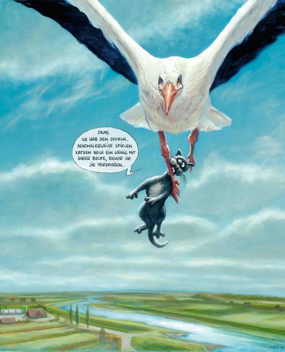 Okay, ich hab den Storch ...