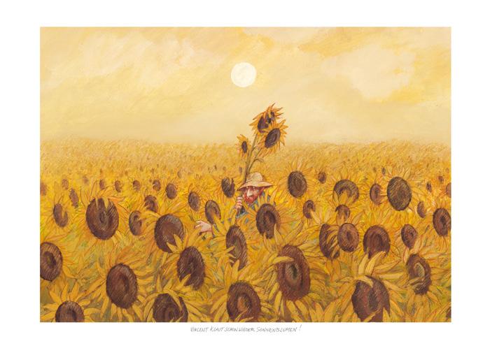 Vincent klaut schon wieder Sonnenblumen
