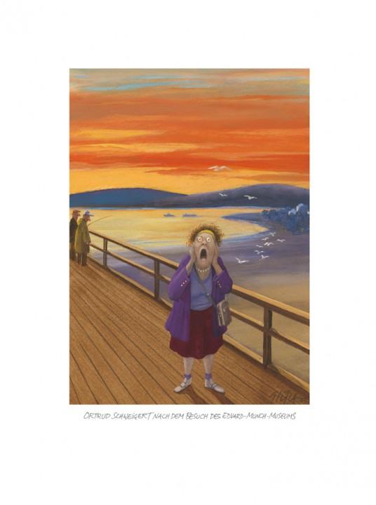 Ortrud Schweigert nach dem Besuch des Munch-Museums