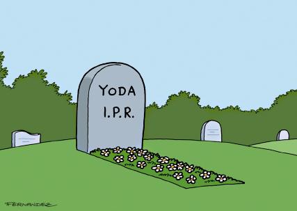 Miguel Fernandez Yoga I.P.R. Postkarte Star Wars Grabstein