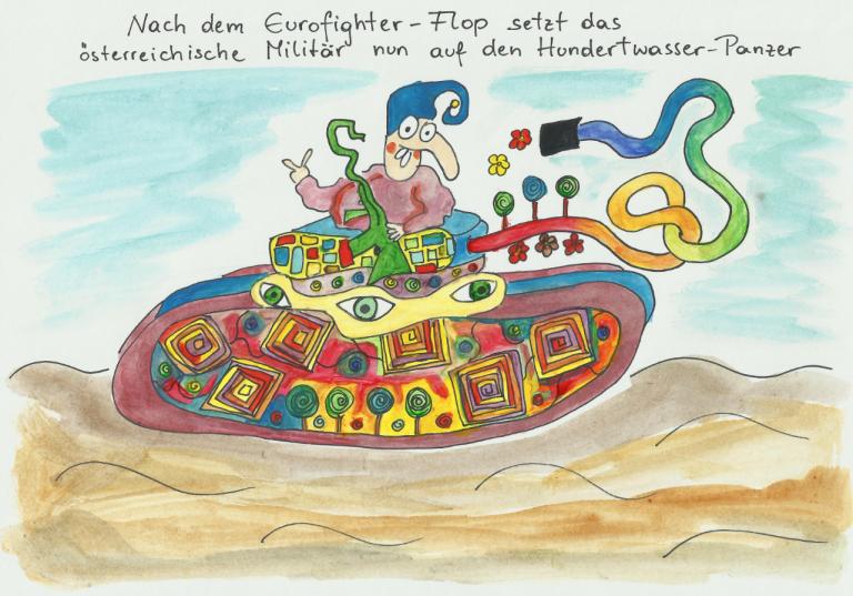 Elisabeth Semrad - Hundertwasser Panzer