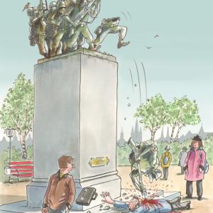 Karl-Heinz Brecheis - Denkmal Komische Künste Wien MuseumsQuartier
