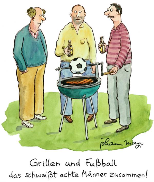 Johann Mayr - Grillen und Fussball