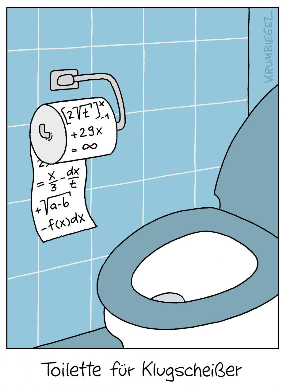 Toilette für Klugscheißer